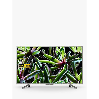 "Sony Bravia KD55XG7073 (2019) LED HDR 4K Ultra HD Smart TV, 55"" with Freeview Play, Silver"