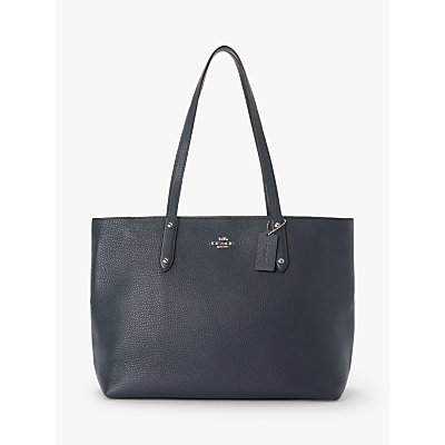 Coach Central Leather Zip Top Tote Bag