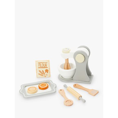 John Lewis & Partners Wooden Baking Set