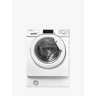 Hoover HBWM 914D-80 Integrated Slim Depth Washing Machine, 9kg Load, A+++ Energy Rating, 1400rpm, White