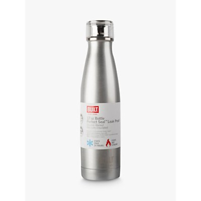 Built NY Stainless Steel Leak-Proof Drinks Bottle, 480ml, Silver