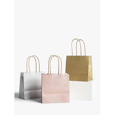 John Lewis   Partners Mini Metallic Gift Bags  Set of 3 - 5057618784933