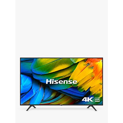 Hisense H43B7100UK (2019) LED HDR 4K Ultra HD Smart TV, 43 with Freeview Play, Black/Silver