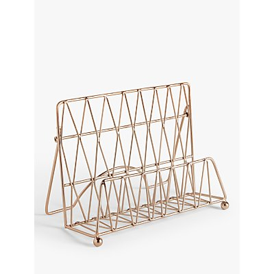 John Lewis & Partners Metal Cookbook Stand, Copper