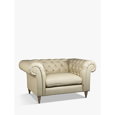 John Lewis & Partners Cromwell Leather Snuggler, Dark Leg
