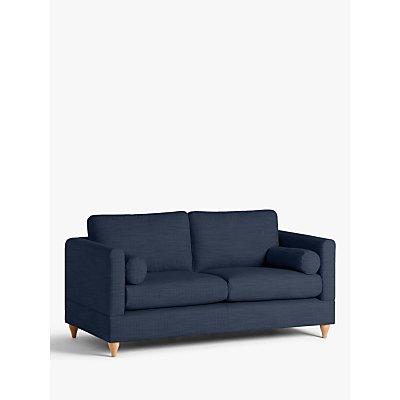 John Lewis & Partners Tilda Medium 2 Seater Sofa, Light Leg, Harris Navy
