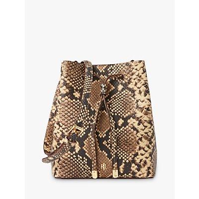 Lauren Ralph Lauren Dryden Debby Leather Bucket Bag, Oatmeal