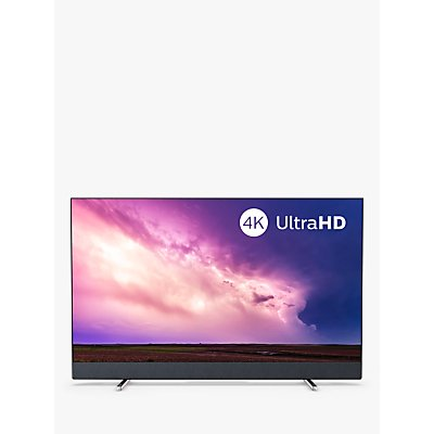 """Philips 55PUS8804 (2019) LED HDR 4K Ultra HD Smart Android TV, 55"""" with Freeview HD, Ambilight, & Bowers & Wilkins Sound, Silver"""