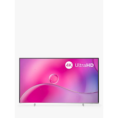 "Philips 55PUS9104 (2019) LED HDR 4K Ultra HD Smart Android TV, 55"" with Freeview HD, Ambilight & Georg Jenson Design, Silver"