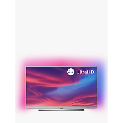 "Philips 55PUS7394 (2019) LED HDR 4K Ultra HD Smart Android TV, 55"" with Freeview HD, Ambilight & Dolby Atmos Sound, Silver"