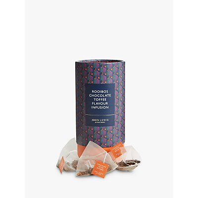 John Lewis & Partners Rooibos Chocolate Toffee Flavoured Drink Infusion Teabags, 37.5g