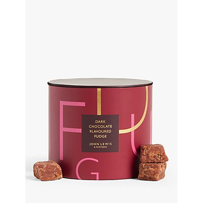 John Lewis & Partners Dark Chocolate Fudge, 200g