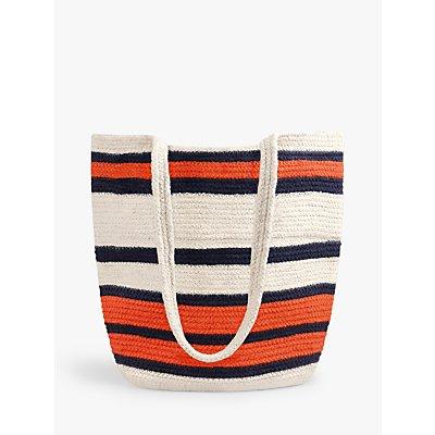 hush Seville Woven Stripe Shoulder Bag, Natural/Multi