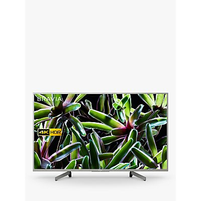 "Sony Bravia KD43XG7073 (2019) LED HDR 4K Ultra HD Smart TV, 43"" with Freeview Play, Silver"