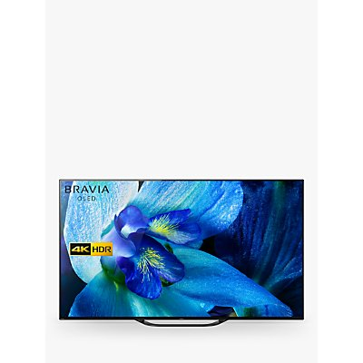 Sony Bravia KD55AG8 (2019) OLED HDR 4K Ultra HD Smart Android TV, 55 with Freeview HD, Youview, & Acoustic Surface Audio, Black