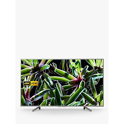 "Sony Bravia KD65XG7073 (2019) LED HDR 4K Ultra HD Smart TV, 65"" with Freeview Play, Silver"