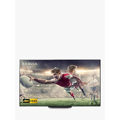 Sony Bravia KD65AG9 (2019) OLED HDR 4K Ultra HD Smart Android TV, 65 with Freeview HD, Youview, & Acoustic Surface Audio+, Black