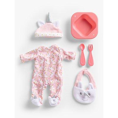 John Lewis & Partners Baby Doll Unicorn Accessory Set