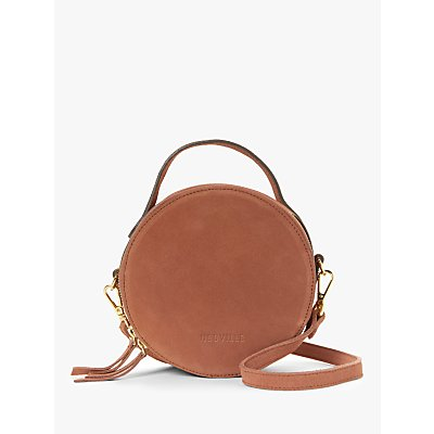Neuville Oh Circle Suede Cross Body Bag, Rouille