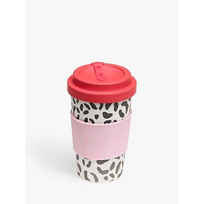 Caroline Gardner Leopard Bamboo Travel Mug  400ml - 5034931151772