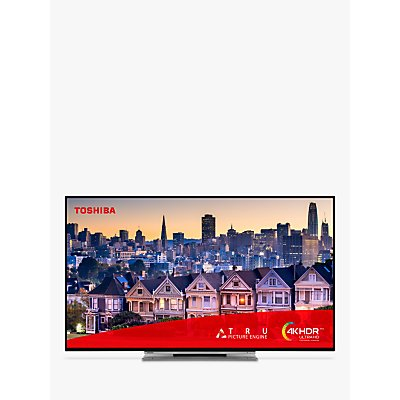 """Toshiba 49UL5A63DB (2019) LED 4K Ultra HD Smart TV, 49"""" with Freeview HD & Freeview Play, Black"""