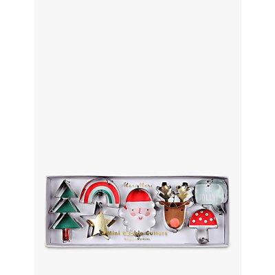 Meri Meri Festive Icons Mini Cookie Cutters, Set of 7, Assorted