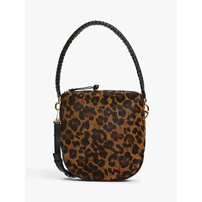 AND/OR Satillo Leather Shoulder Bag, Leopard Effect