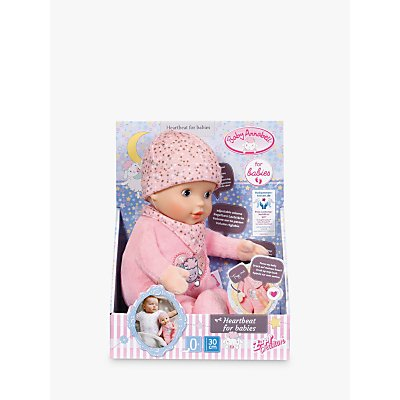 Zapf Baby Annabell Newborn Heartbeat Doll