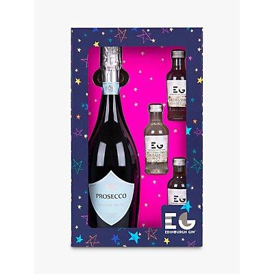 Edinburgh Gin Prosecco and Gin Set, 90cl