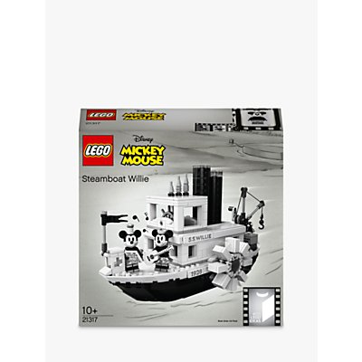 LEGO Ideas 21317 Disney Mickey Mouse Steamboat Willie Vintage Collector's Model