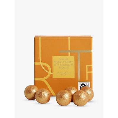 John Lewis & Partners 9 Praline Popping Candy Milk Chocolate Truffles, 90g