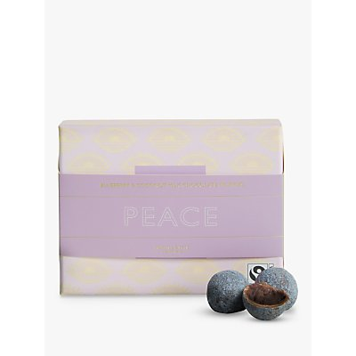 John Lewis & Partners Peace Blueberry & Coconut Ganache Filled Milk Chocolate Truffles, 120g