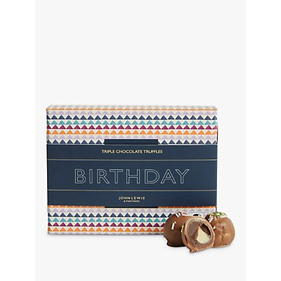 John Lewis & Partners Happy Birthday Triple Chocolate Truffles, 120g