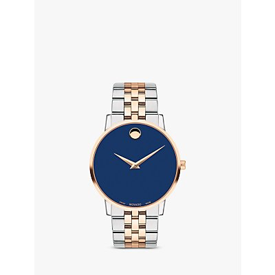 Movado 607267 Men s Museum Classic Two Tone Bracelet Strap Watch  Silver Rose Gold - 7613272286480
