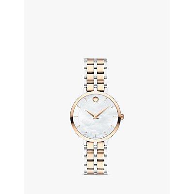 Movado 607324 Women s Kora Two Tone Bracelet Strap Watch  Silver Rose Gold - 7613272315807