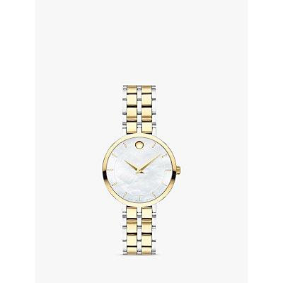 Movado 607323 Women s Kora Two Tone Bracelet Strap Watch  Silver Gold - 7613272315791