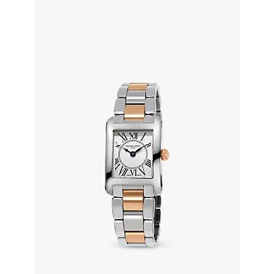 Frederique Constant FC 200MC12B Women s Carree Two Tone Bracelet Strap Watch  Silver Gold - 7688200315747