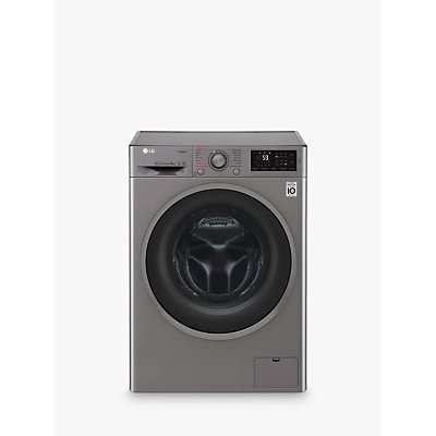 LG F4J609SS Freestanding Washing Machine, 9kg Load, A+++ Energy Rating, 1400rpm Spin, Graphite