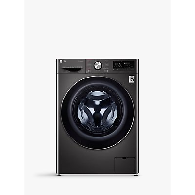 LG F4V910BTS Freestanding Washing Machine, 10kg Load, A+++ Energy Rating, 1400rpm Spin, Black