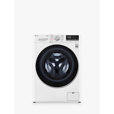 LG F4V508WS Freestanding Washing Machine, 8kg Load, A+++ Energy Rating, 1400rpm Spin, White