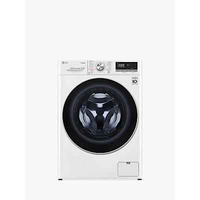 LG F4V509WS Freestanding Washing Machine, 9kg Load, A+++ Energy Rating, 1400rpm Spin, White