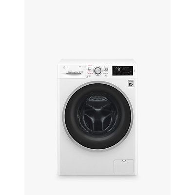 LG F4J610WS Freestanding Washing Machine, 10kg Load, A+++ Energy Rating, 1400rpm Spin, White