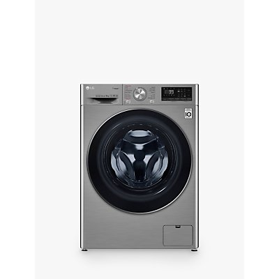 LG F4V709STS Freestanding Washing Machine, 9kg Load, A+++ Energy Rating, 1400rpm Spin, Graphite