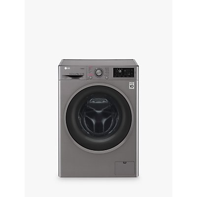 LG F4J610SS Freestanding Washing Machine, 10kg Load, A+++ Energy Rating, 1400rpm Spin, Graphite