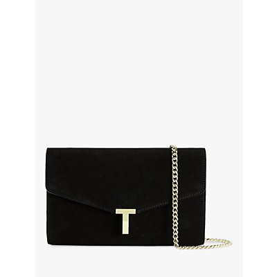 Ted Baker Jakiee Leather Clutch Bag, Black
