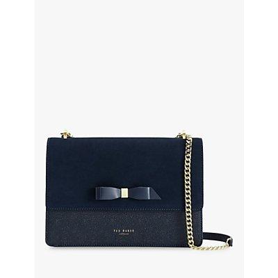 Ted Baker Olisssa Leather Cross Body Bag, Dark Blue