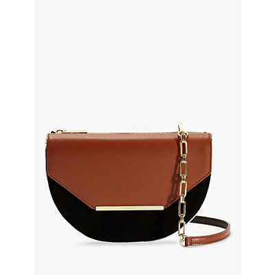 Ted Baker Ferrn Colour Block Leather Cross Body Bag, Tan