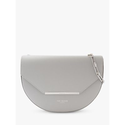 Ted Baker Felicaa Leather Cross Body Bag, Light Grey