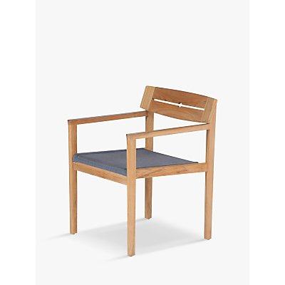 Barlow Tyrie Atom Teak Wood Garden Dining Chair, Natural