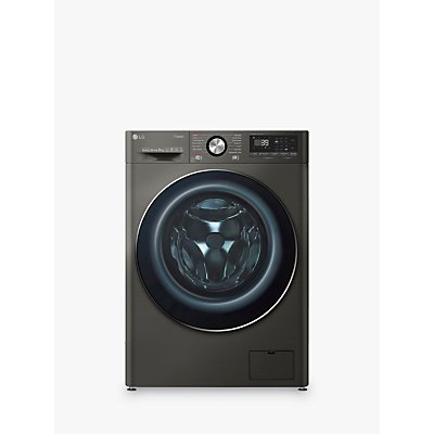 LG F4V909BTS Freestanding Washing Machine, 9kg Load, A+++ Energy Rating, 1400rpm Spin, Black